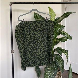 Jessica London Animal Print Skirt